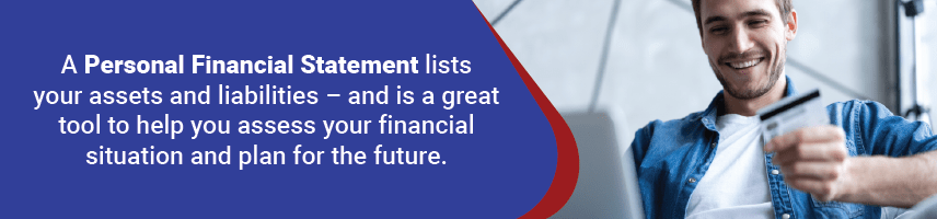 A financial statement will help you determine your financial plans.